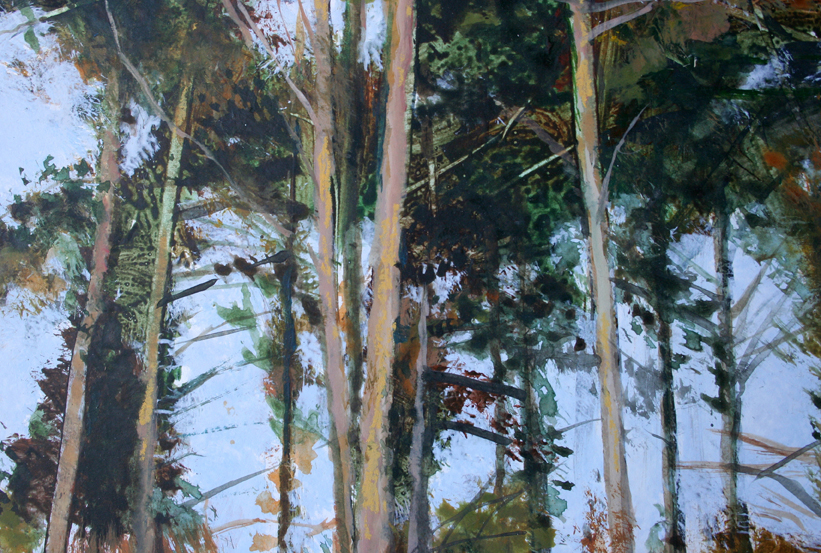 Pine Trees acrylic on board