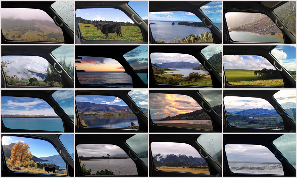 "I was lucky to have had my iPhone on me when the van was robbed.  I took a photo out of the van window at many of my stops to give the viewer a sense of what it's like to be there.  This is a sample of my ""vanscape"" series that I did on this trip."