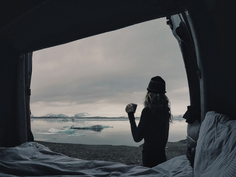 Waking up to the sounds of glaciers grazing the rocks as they float by