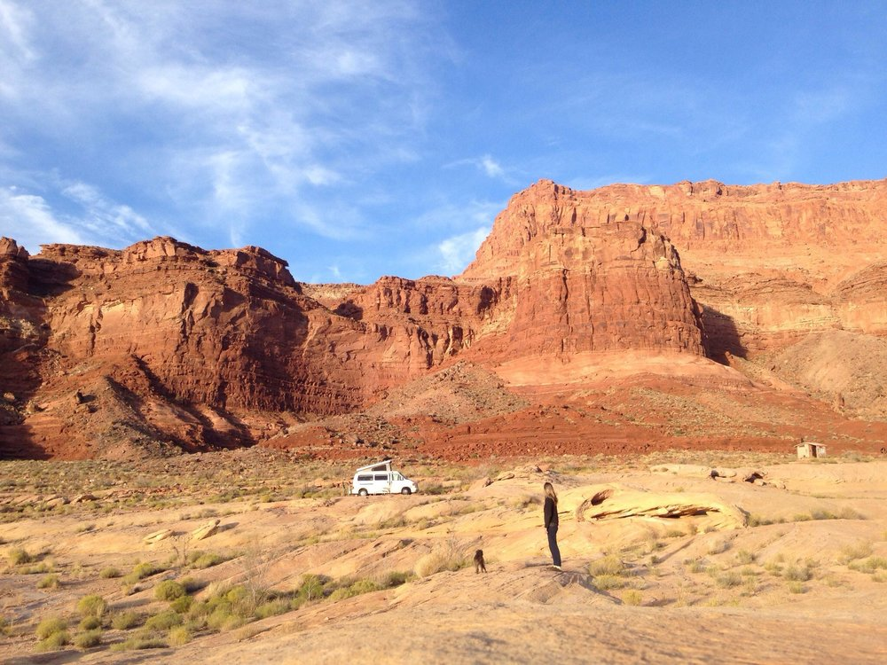 Camping all alone near Lake Powell