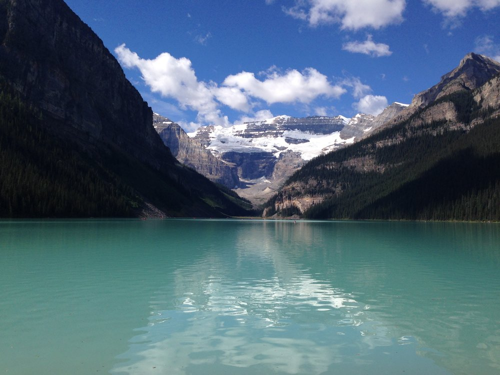 Unedited iPhone 5 photo of Lake Louise in front of the tourists