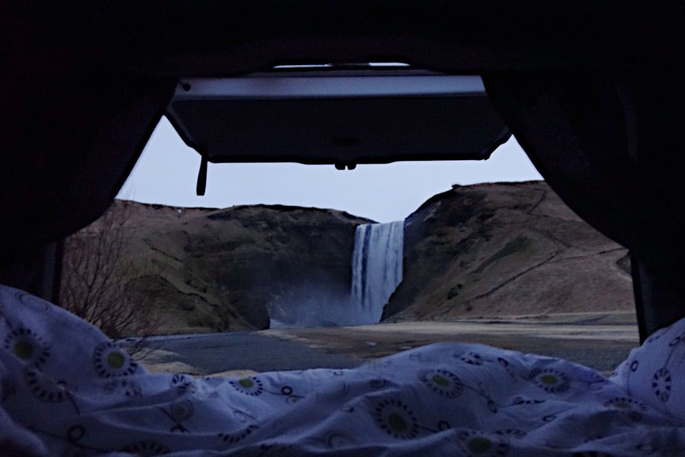 Waking up and having the waterfall all to myself for a few minutes.