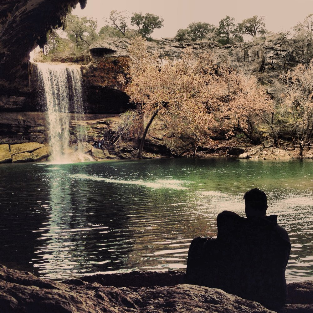 Couple enjoying the view at Hamilton Pool