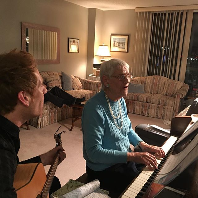 There's nothing quite like a jam with grandma. These are very special and sacred times. #grateful #music #tears #singalong #gratitude #bigheart #inspired