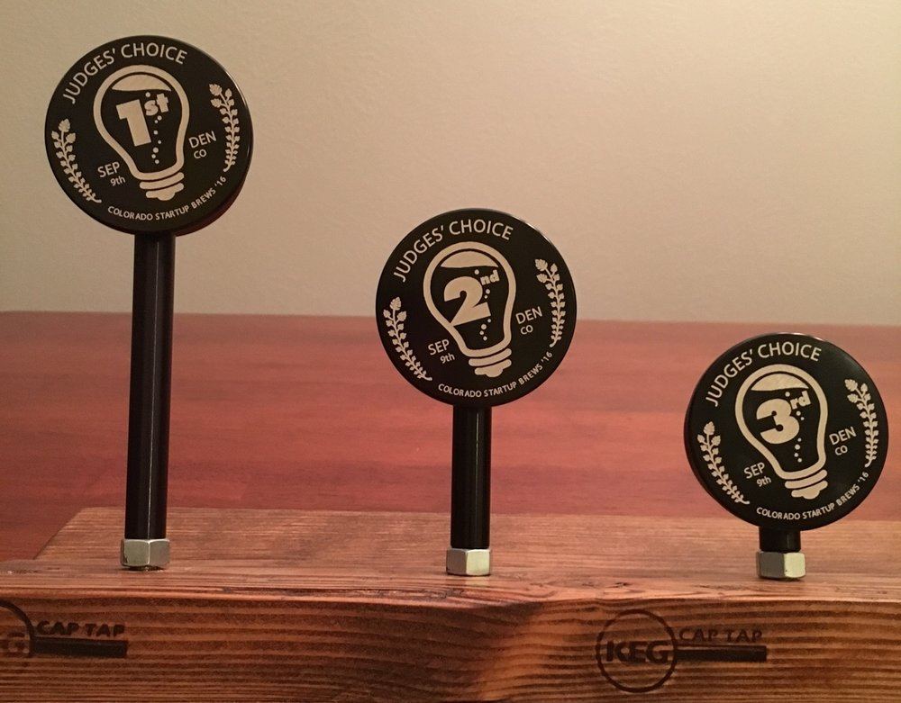 Custom tap handles make great brewing event trophies!