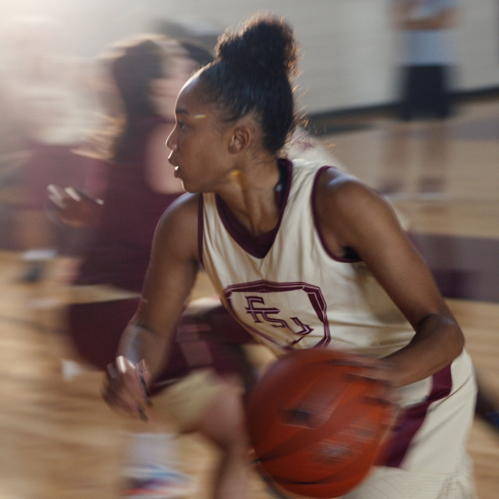 "We are in creative development for this season's Women's Basketball campaign. We are excited to follow up last year's award-winning ""Unstoppable"" campaign. Client: Florida State Women's Basketball"
