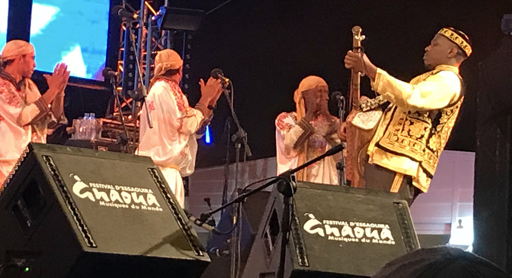 "Maâlem Houssam Guinia is the son and successor of the late Maâlem Mahmoud Guinia- ""Gnaoua Music Festival 2017""-Essaouira"