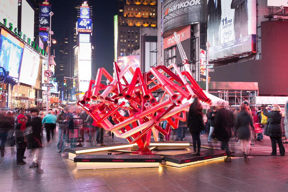 Times Square Valentine Heart: The Match-Maker   New York, New York