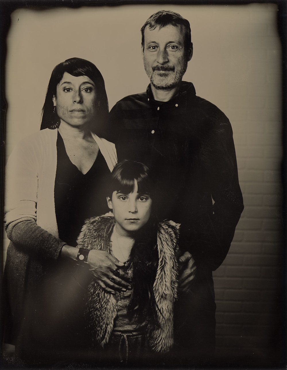 The Glass-Oakes Family. Tintype ©2018 Stephen Takacs Photography LLC