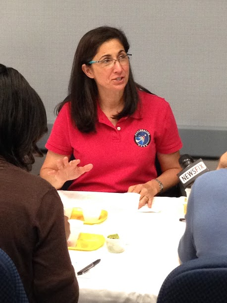 Astronaut Nicole Stott was one of the taste-testers at Johnson Space Center.
