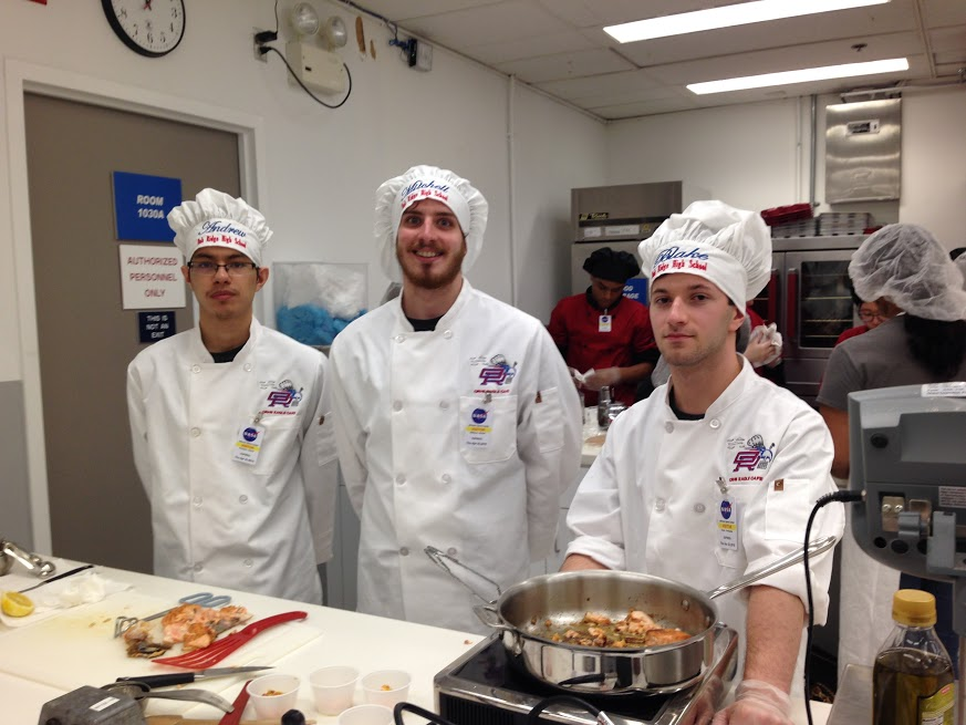 NASA HUNCH Students tested out their space-cooking skills for the next great astronaut meal!