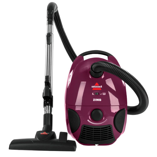 This is an image of a BISSEL canister vacuum cleaner.