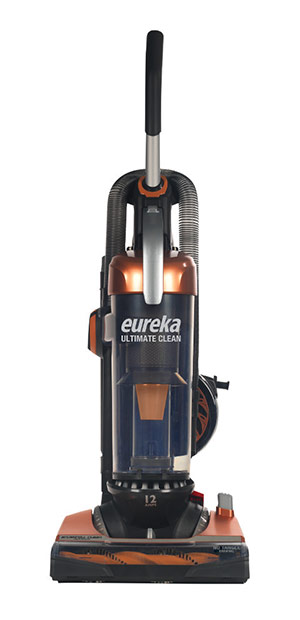 This is an image of a Eureka upright vacuum cleaner.