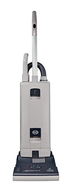 This is an image of a SEBO upright vacuum cleaner.