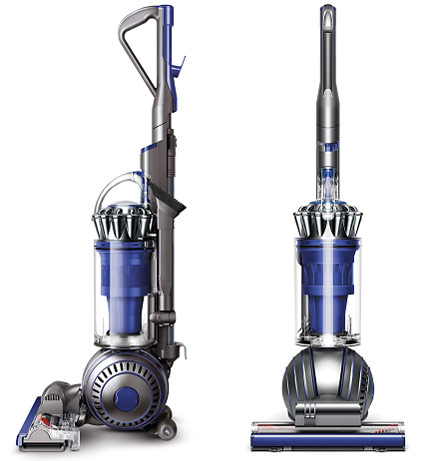 This is an image of a Dyson Ball Animal 2 upright vacuum cleaner, which is great for cleaning homes with pets present.