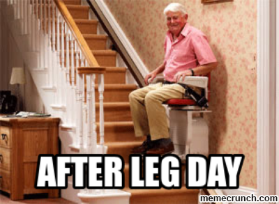 leg day massage meme
