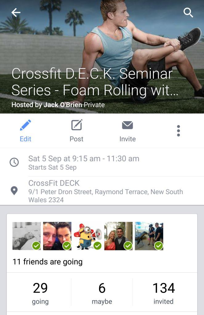 terrace physio plus crossfit seminar foam rolling