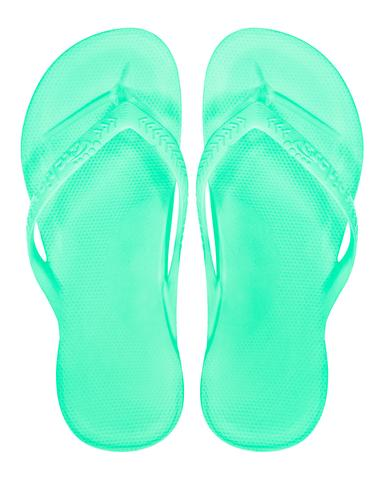 2d73475b4ece Archies Thongs - Size 6.  Archies Arch Support Thongs Flip Flops Orthotic Sandals Mint Single Colour Top View large.jpg