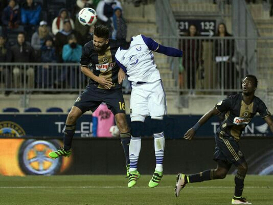 Nocerino shown here during OCSC's match against Philadelphia Union April 8, 2016