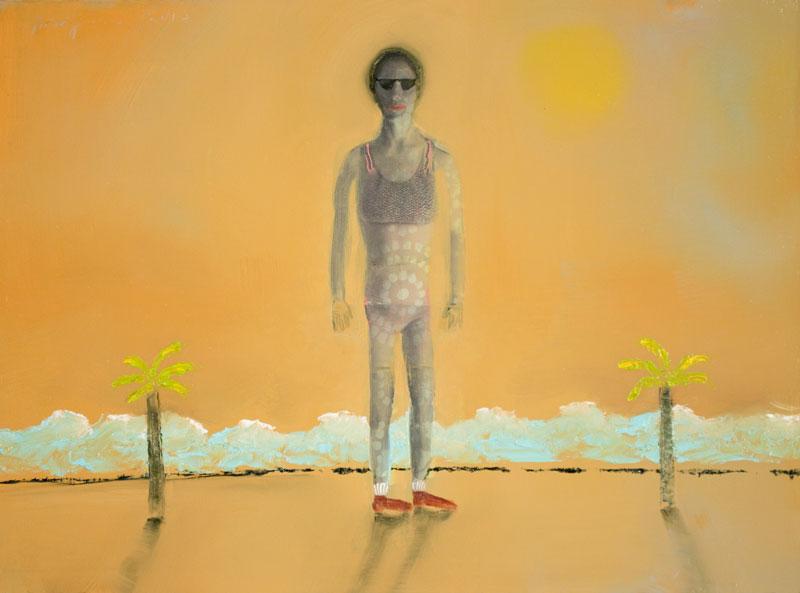 Woman at Beach , 2017, 12 x 16 inches
