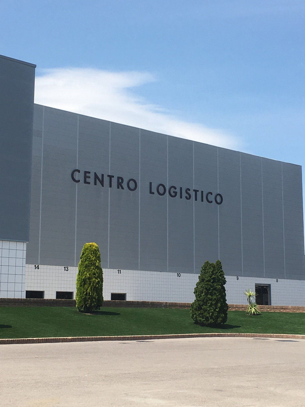 The logistical centre/warehouse- those tiny portholes you see are lorry ports
