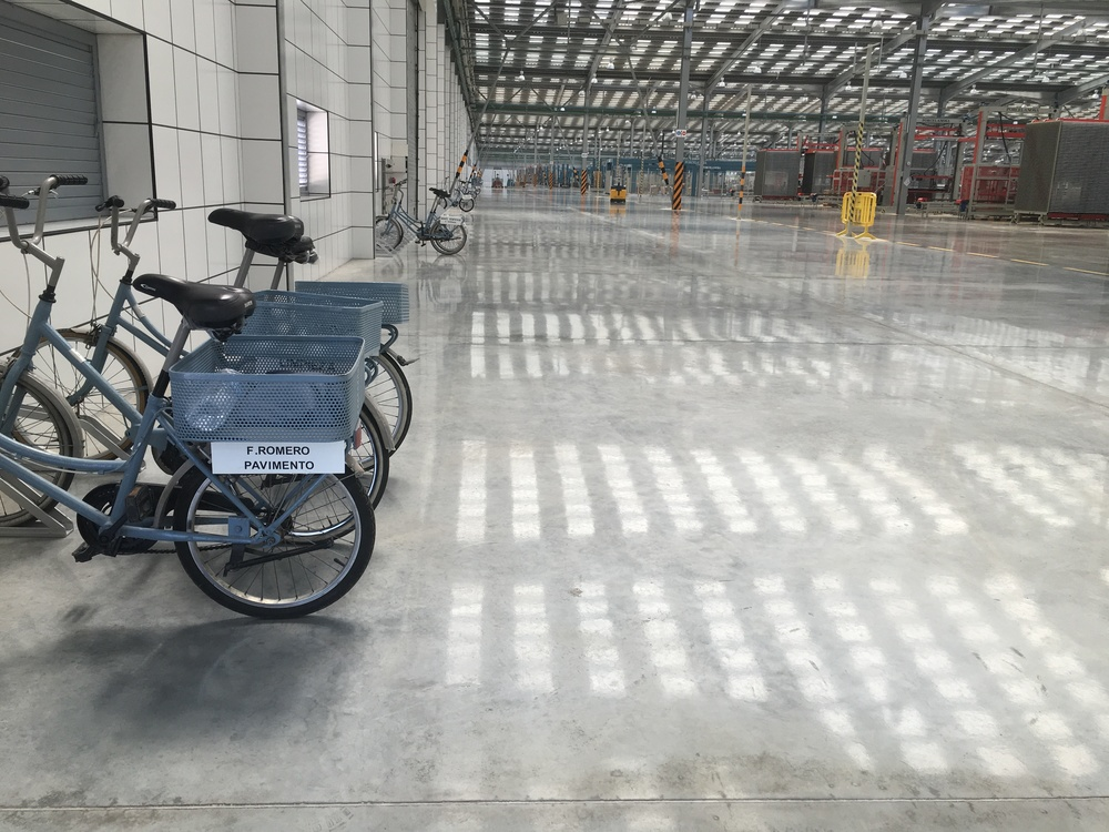 Staff bicycles for the factory