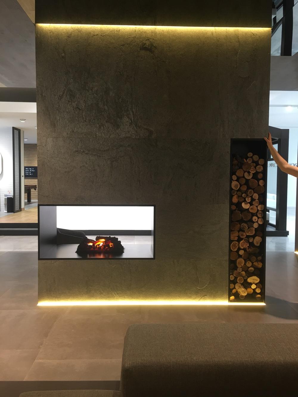 Ultra contemporary fireplace