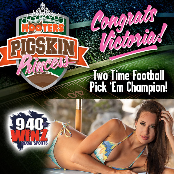 Congrats Victoria! Two Time Football Pick 'Em Champion!