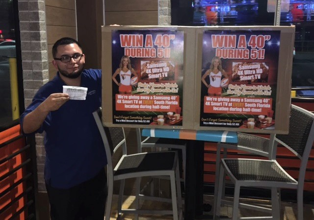 Christian - Winner at Hooters of Fort Myers