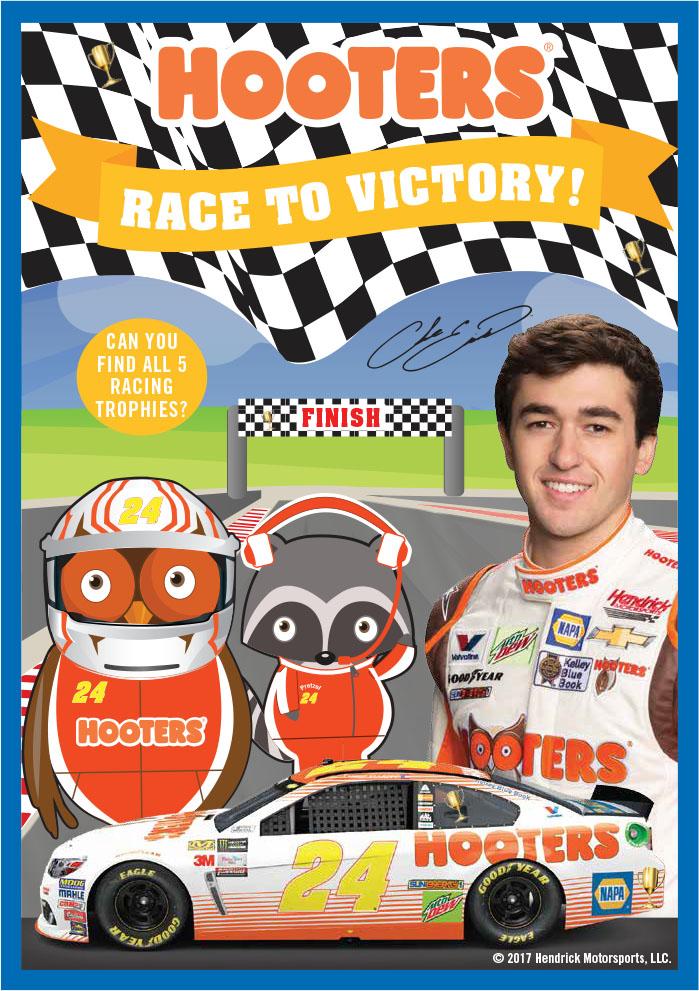 New Racing Themed Kids Menu!