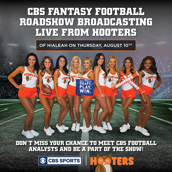CBS Sports at Hooters