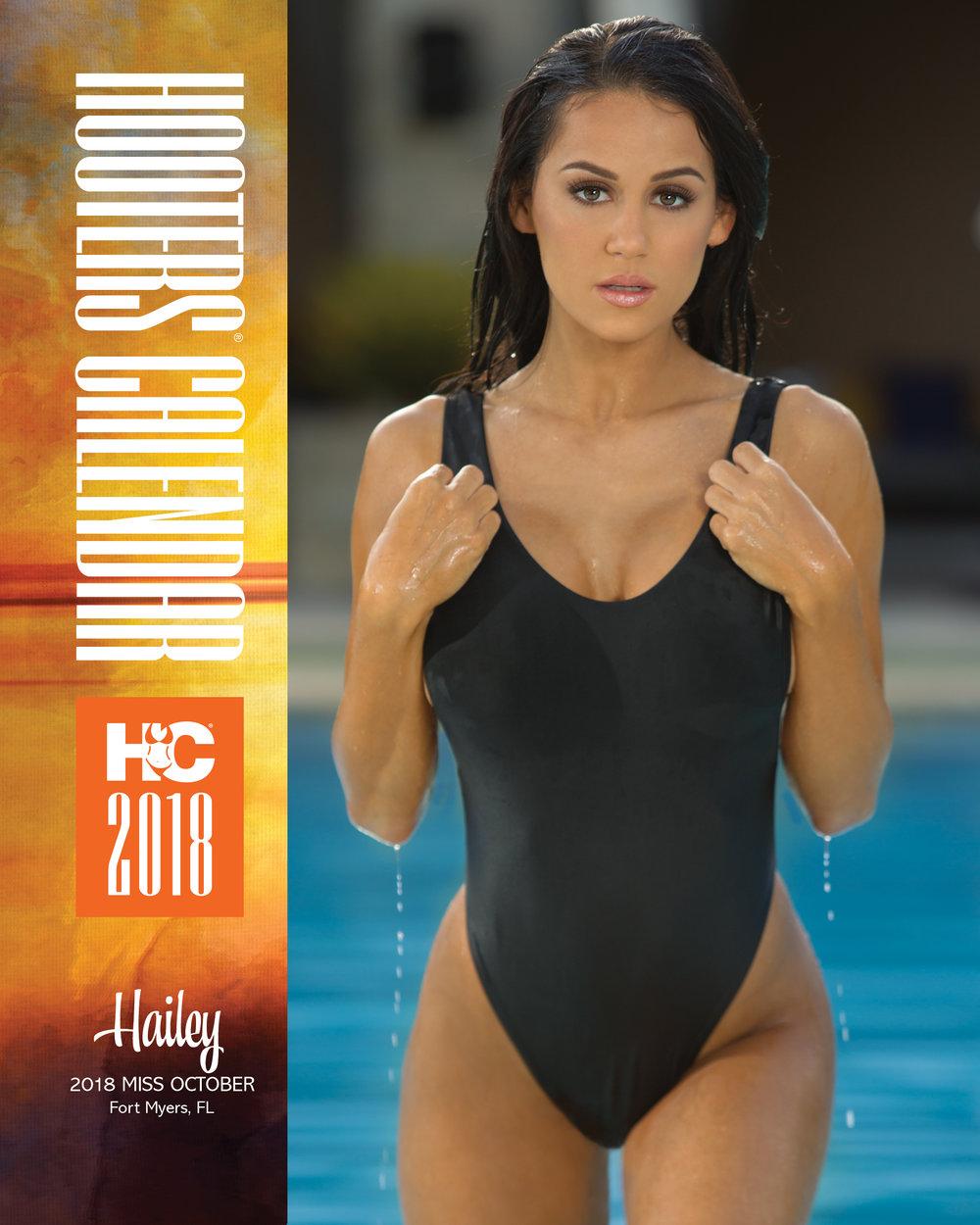 Hooters Calendar. Miss October. Hailey