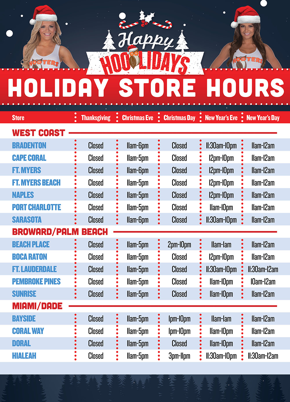 2017-Holiday Hours-Hooters