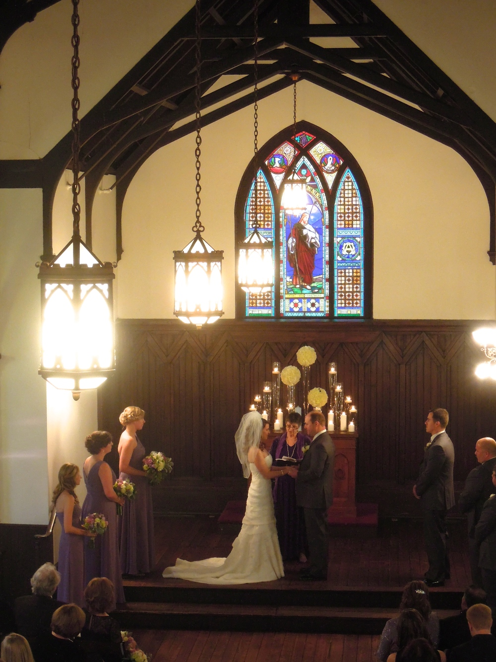 Wedding at All Saints Chapel in downtown Raleigh NC