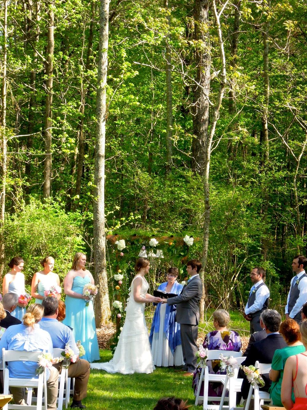 Wedding Ceremony Surrounded by Nature