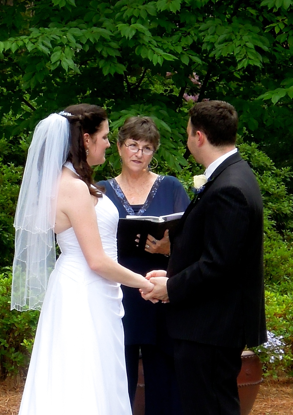 Wedding Ceremony at the WRAL Azalea Garden, Raleigh NC