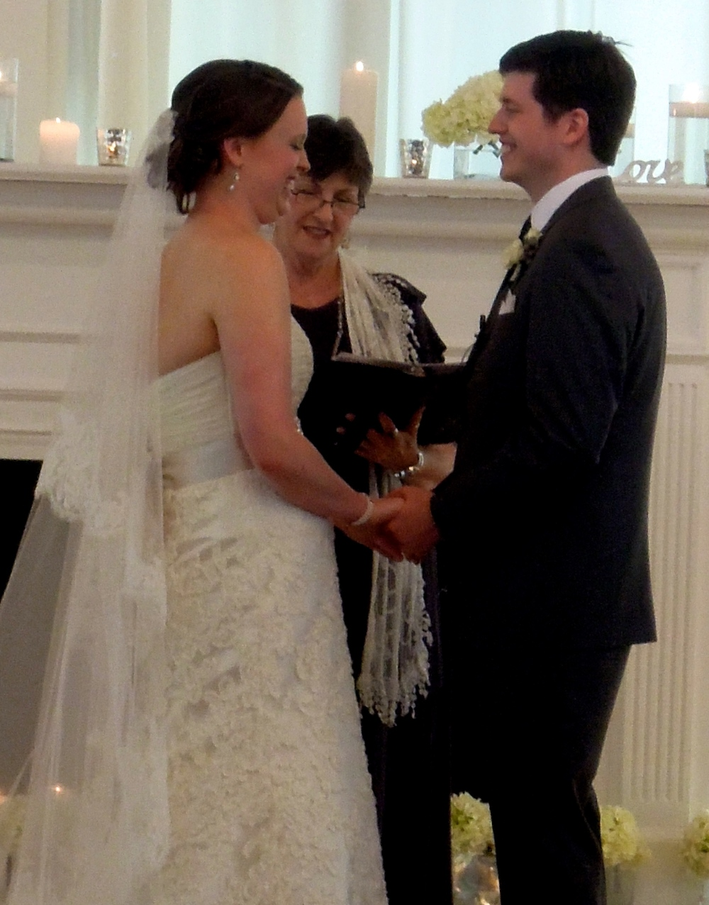 Exchanging Vows at The Cotton Room in Durham NC