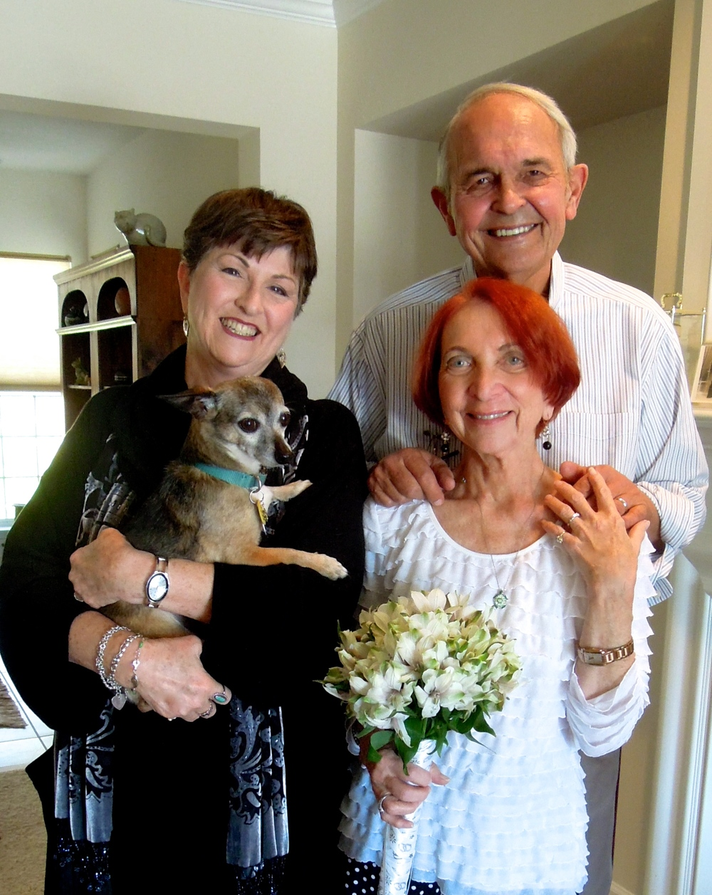 Congratulations to Phyllis and George and their sweet pup, Romey!