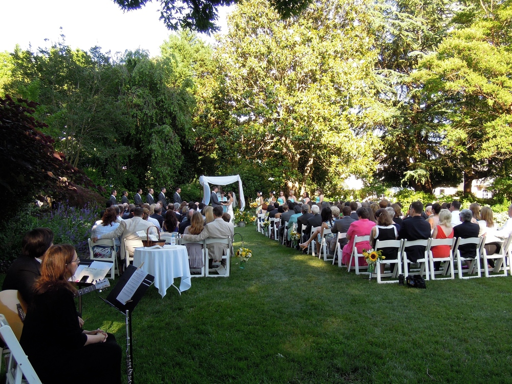 A Jewish-Christian wedding ceremony at Fearrington Country Inn in Pittsboro
