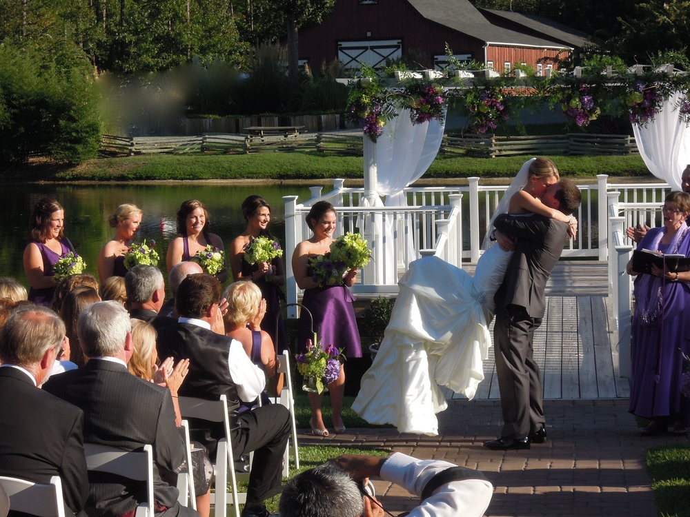 A great wedding at Shady Wagon Farm in New Hill NC--just a few minutes south of Raleigh