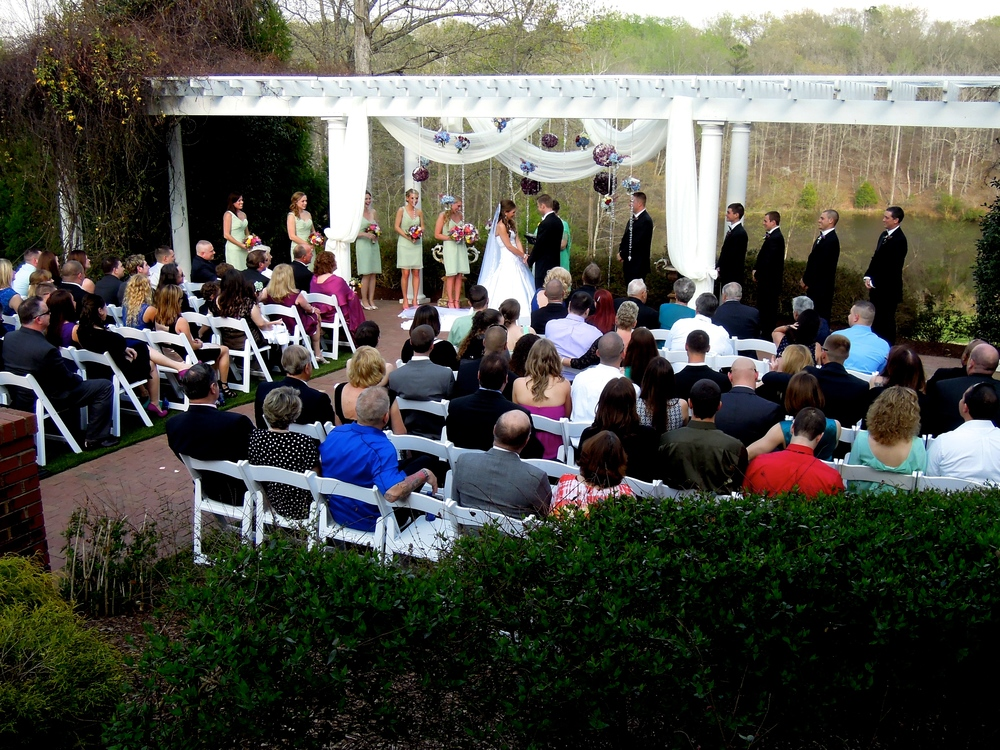 Wedding Ceremony at the elegant Highgrove Estate in Fuquay-Varina