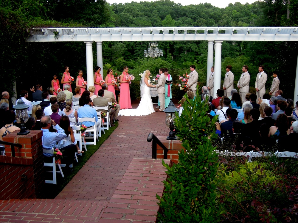 Wedding Ceremony at Highgrove Estate in Fuquay-Varina NC