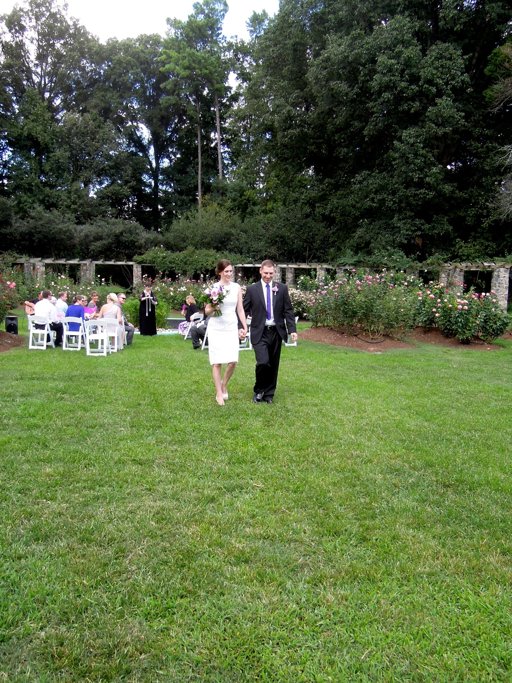 Wedding at Raleigh Rose Garden in Raleigh NC