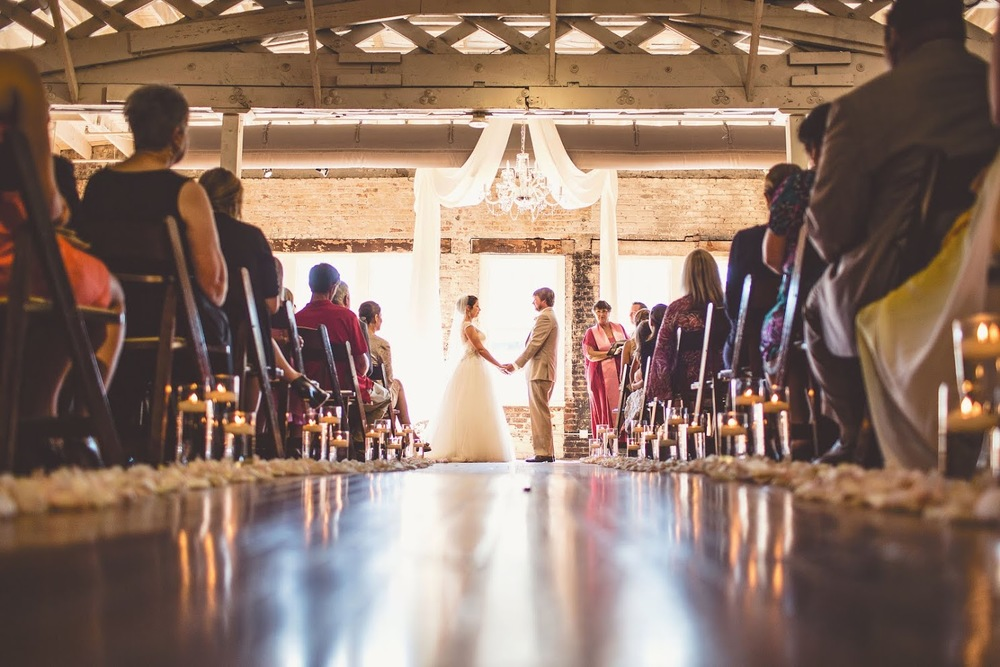 Wedding at the Stockroom at 230 in Raleigh. Photo compliments of photographer Michael Moss.