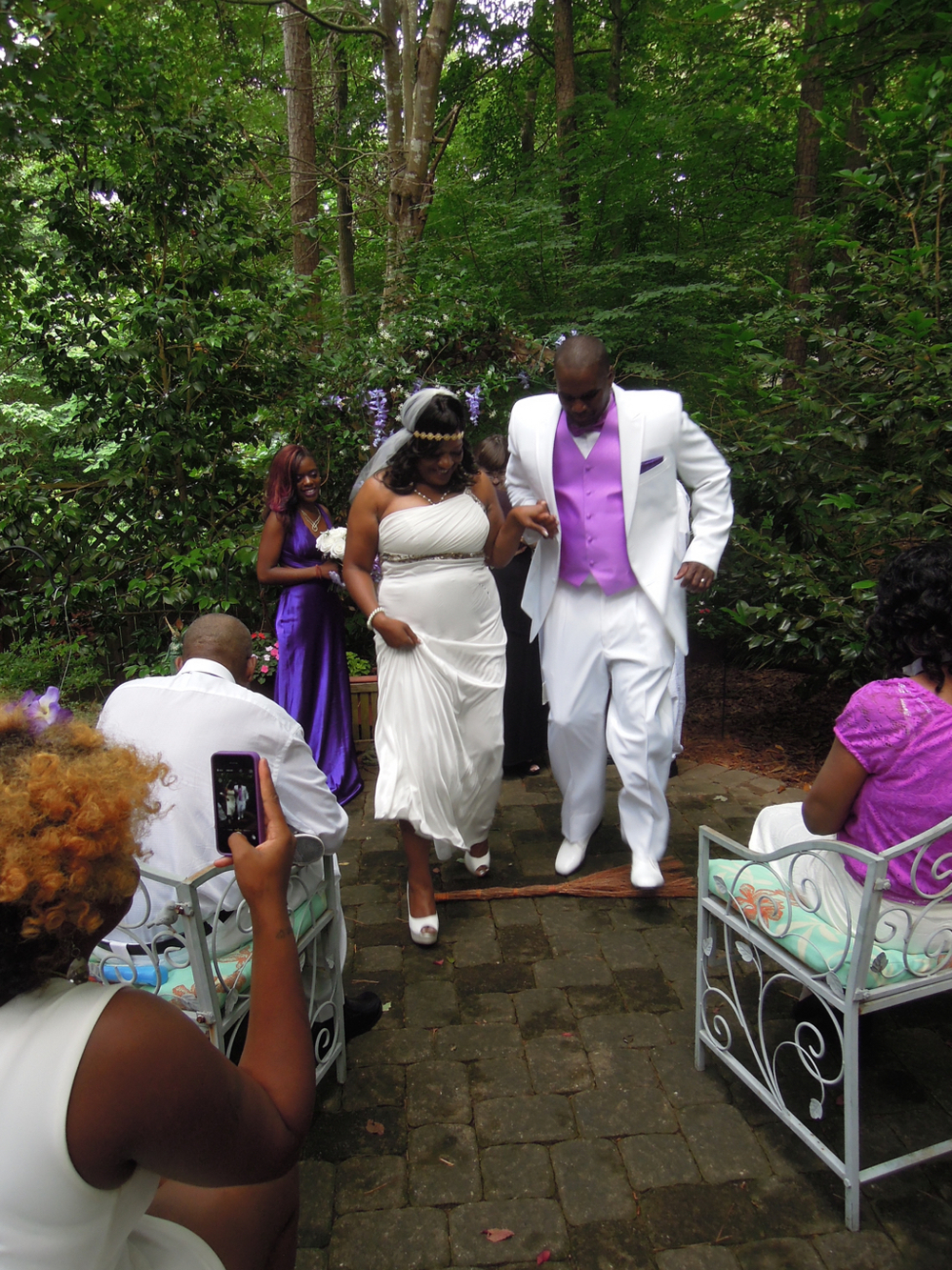 Jumping the broom!