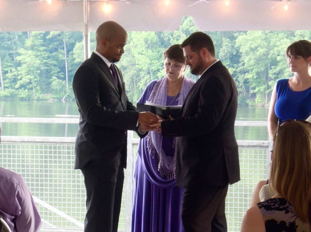 They read their vows to each other from Kayelily's book then exchanged rings.