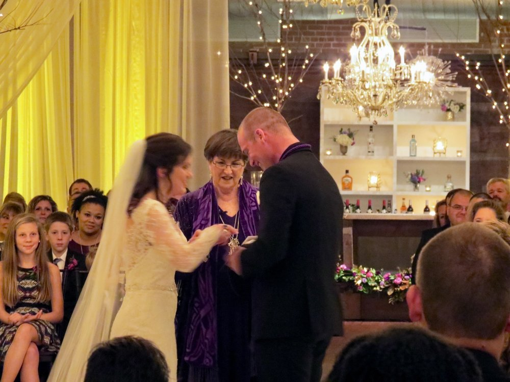 New Year's Eve wedding at The Cloth Mill with the hand fasting ritual