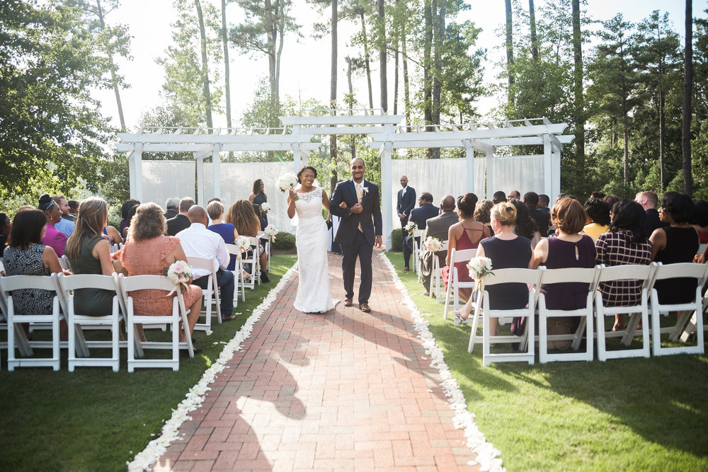 Just Married at Brier Creek CC Wedding!