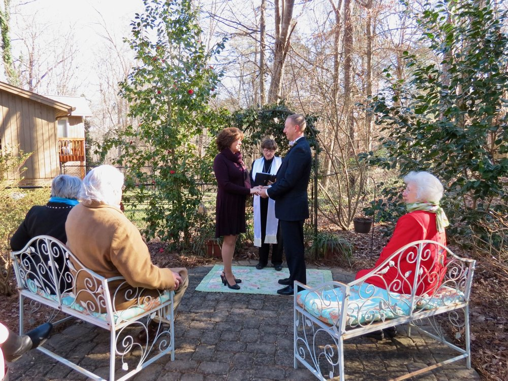 January wedding in my garden....