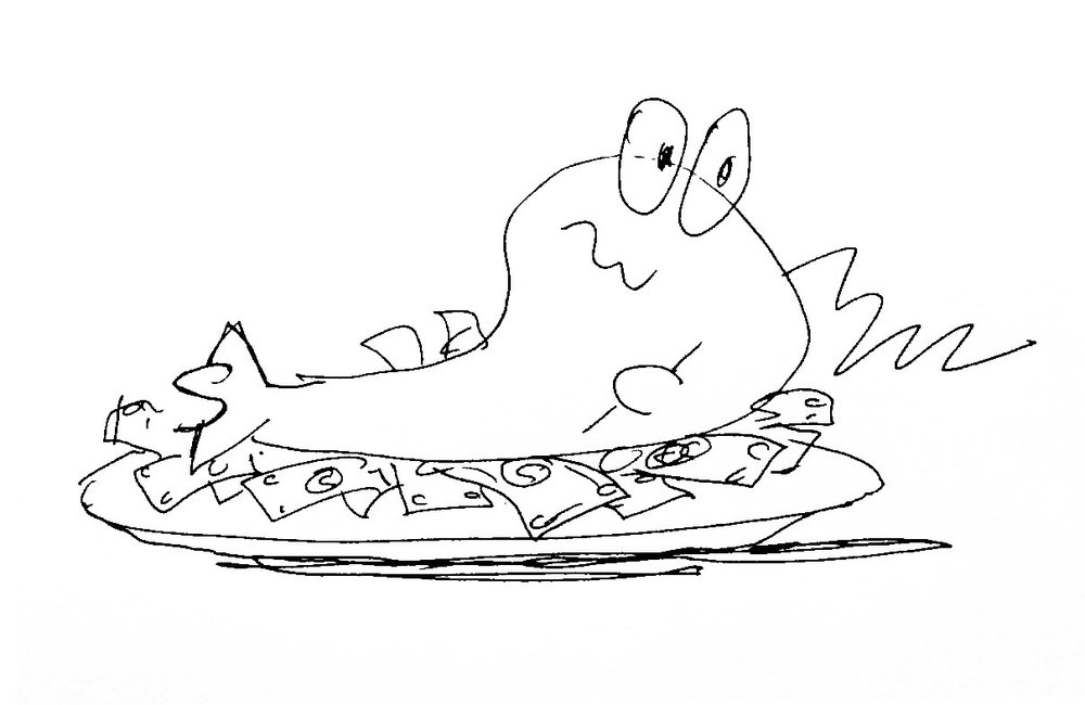 """""""Fat Fish on Bed of Greens"""""""